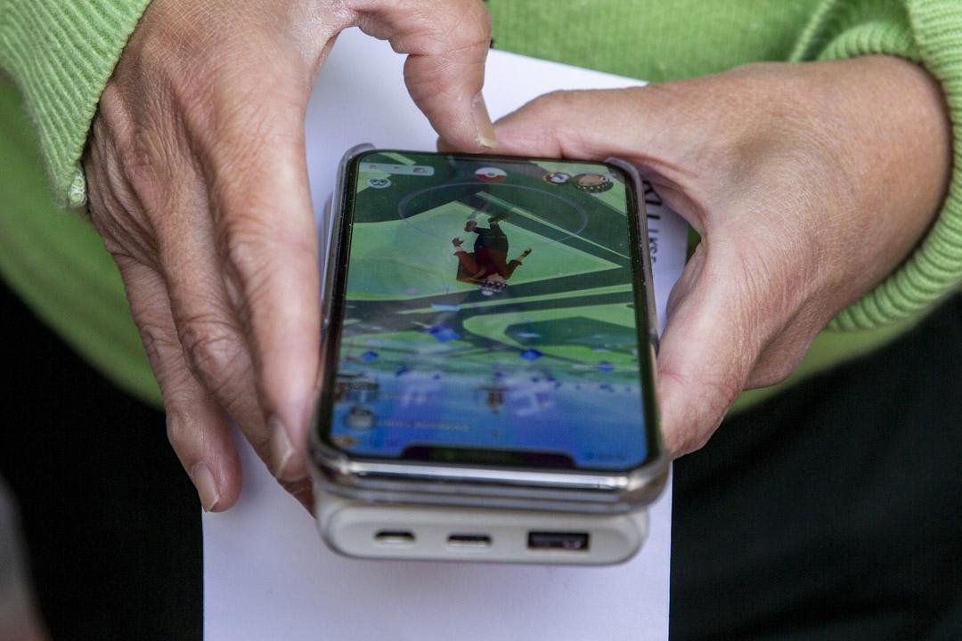 黎青龍沉迷手機遊戲Pokemon GO。