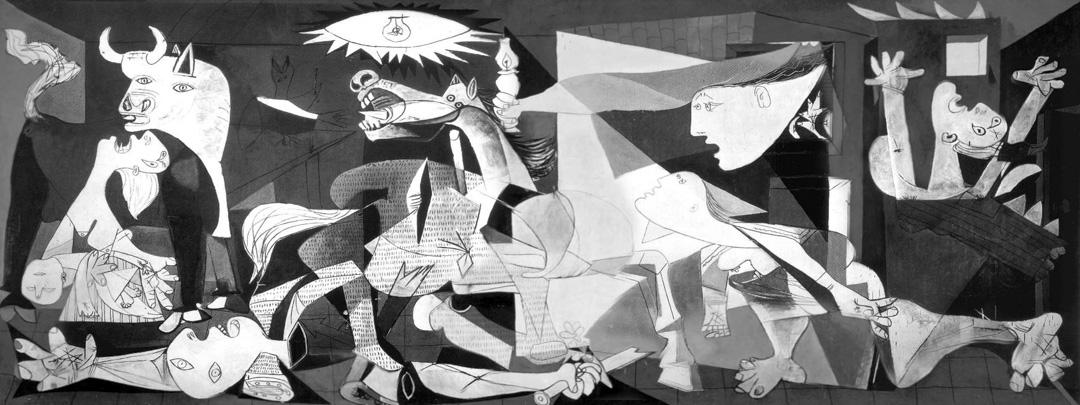 畢加索的作品《格爾尼克》(Guernica)。