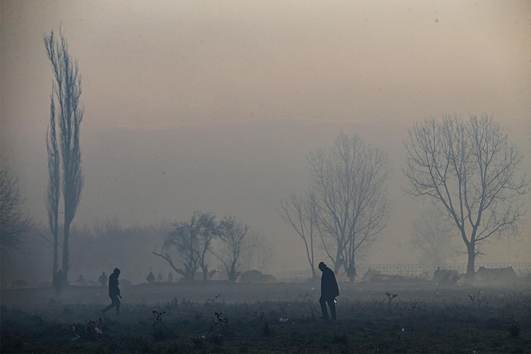 2020年3月8日土耳其埃迪爾內,尋求庇護者試圖進入希臘邊境。