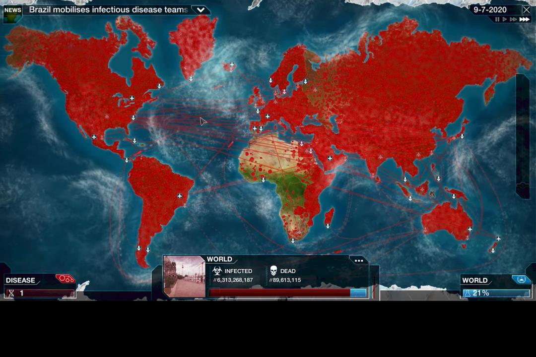 《瘟疫公司》遊戲模組截圖。 youtube