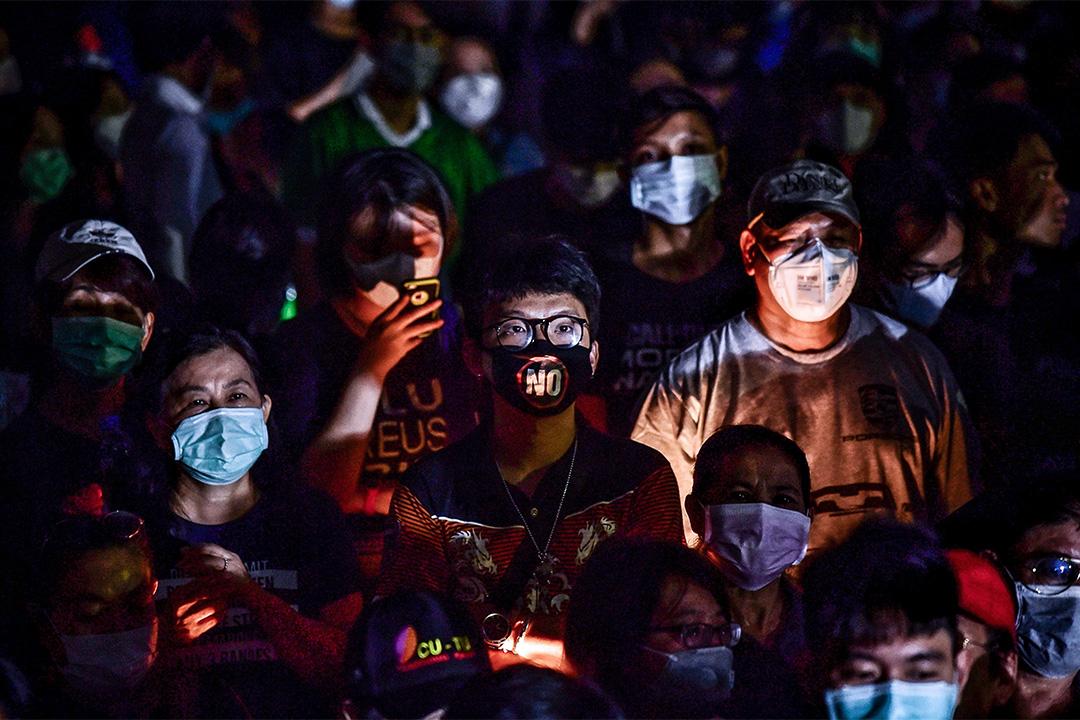 2020年2月29日曼谷,示威者於Kasetsart University集會,抗議軍政府的行動。 攝:Lillian Suwanrumpha/AFP via Getty Images