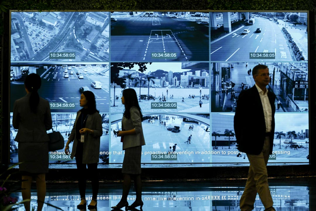 2019年3月6日,記者參觀深圳的華為總部。 攝:Wang Zhao/AFP via Getty Images
