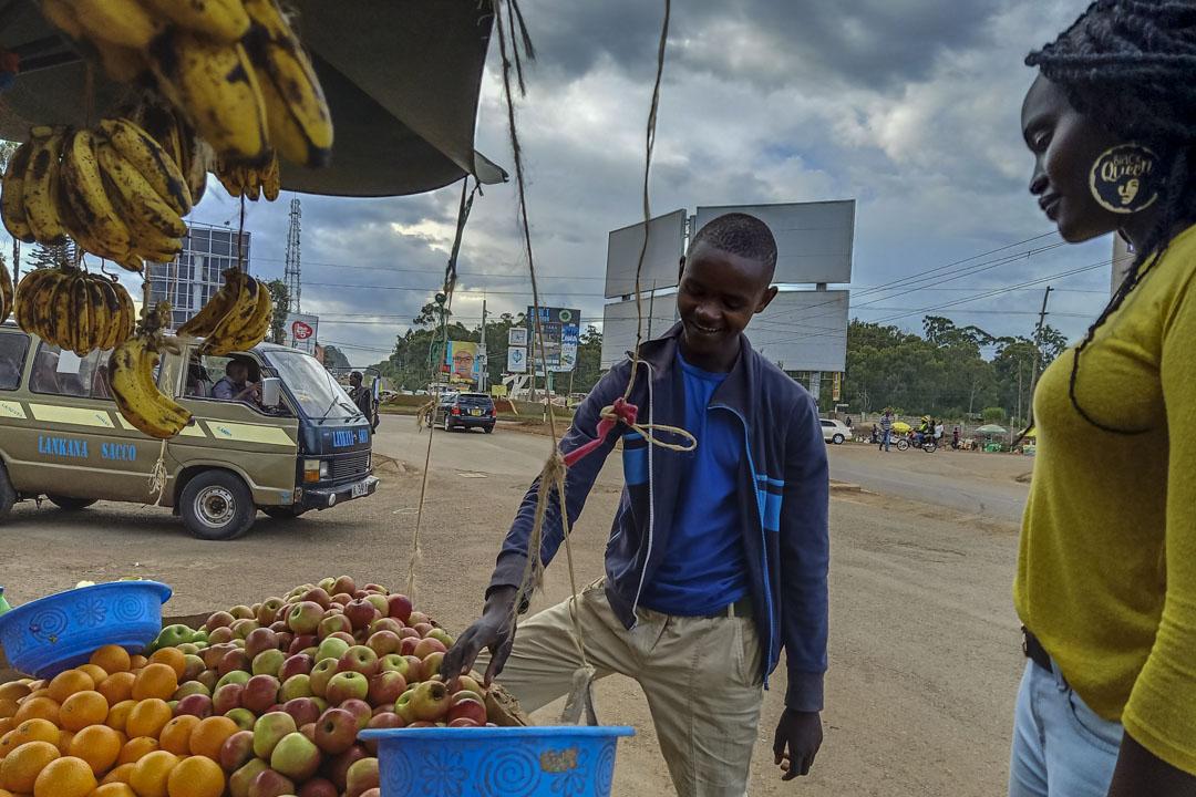 果蔬小販摩西(Moses Njenga) 。