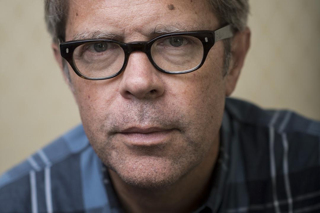 美國作家強納森·法蘭岑(Jonathan Franzen),攝於2017年。
