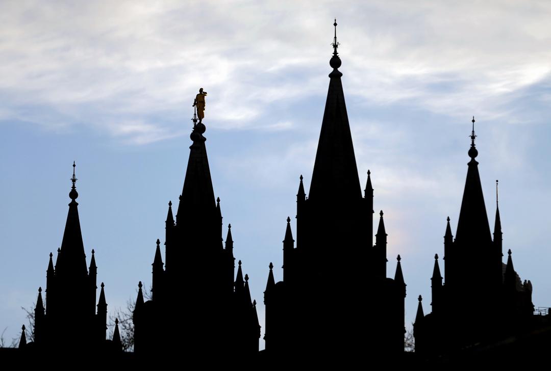 2018年1月3日,美國猶他州首府鹽湖城的聖殿廣場,為摩門教全球總部。 攝:Rick Bowmer/AP/達志影像