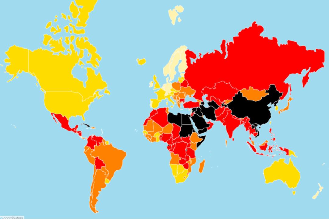 2020年4月21日,無國界記者組織(RSF)發布2020世界新聞自由指數報告。 圖片來自 RSF 網站