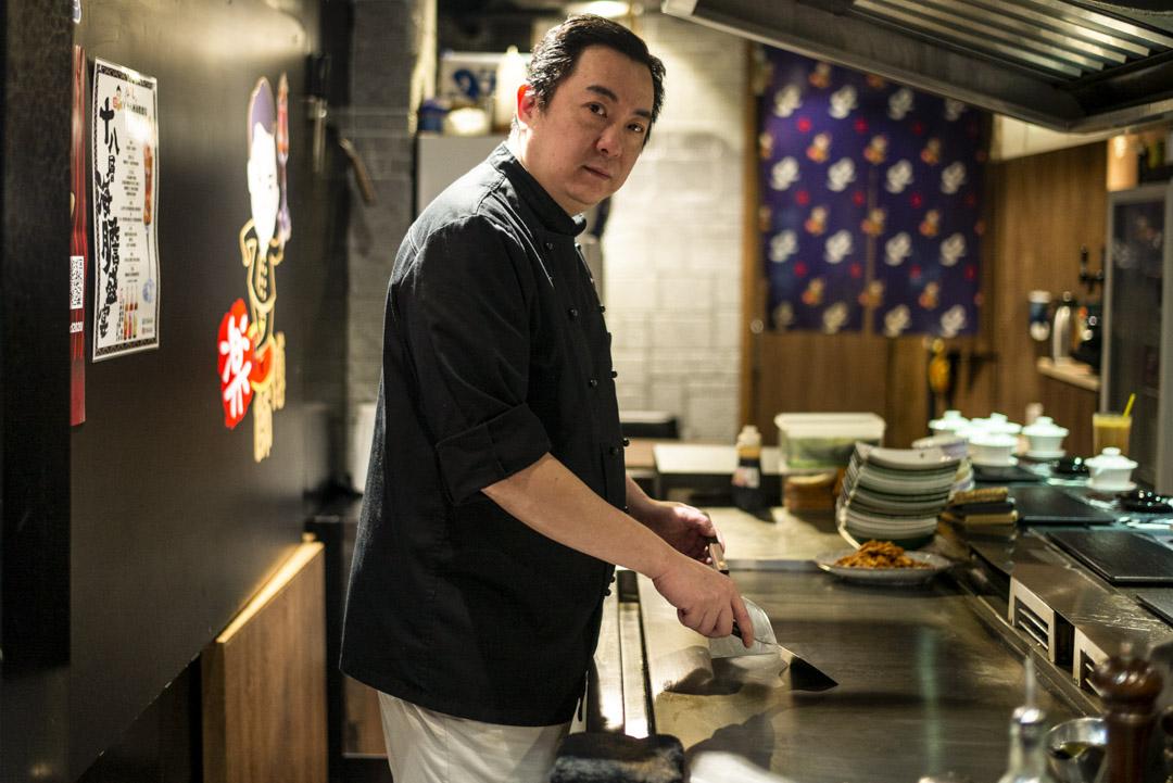 鐵板燒餐廳的樂師傅。