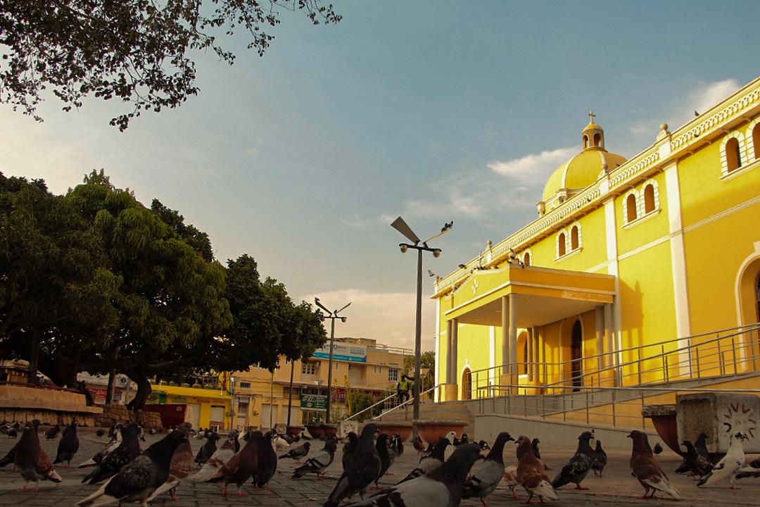 辛塞萊霍(Sincelejo)市中心的教堂。