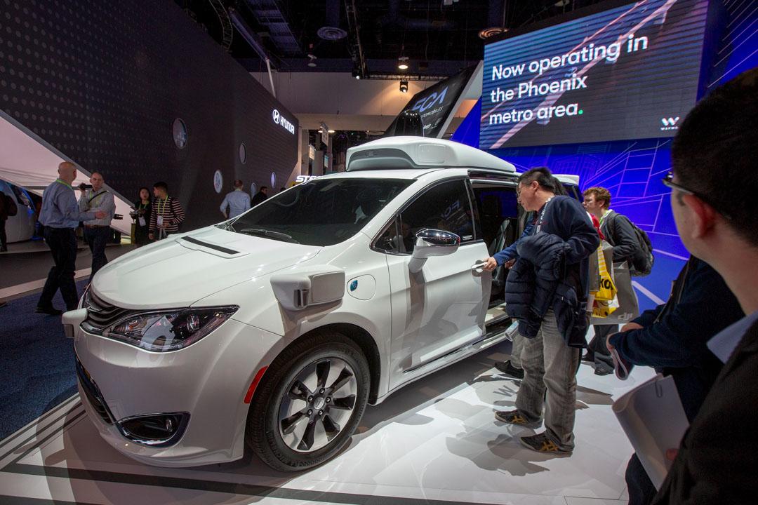 2019年1月9日,美國拉斯維加斯舉行的CES 2019展覽上,有Google的自動駕駛汽車Waymo展示。