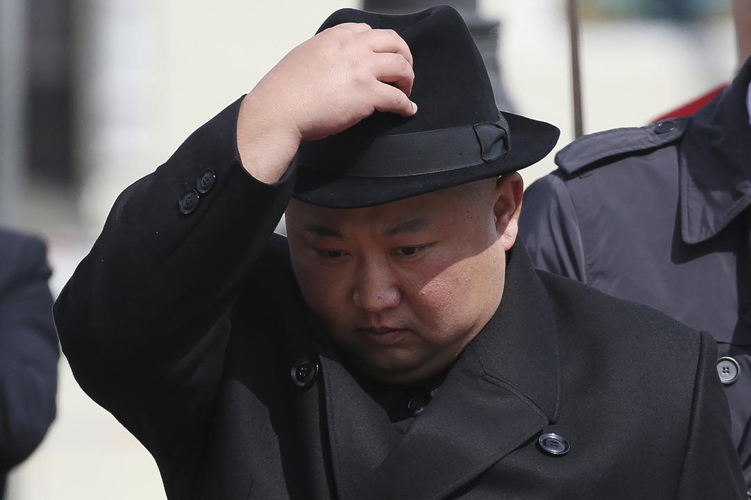 2019年4月26日,金正恩在俄羅斯符拉迪沃斯托克(Vladivostok;通稱:海參崴)準備乘搭專列返回北韓。 攝:Andrey Rudakov / Bloomberg via Getty Images