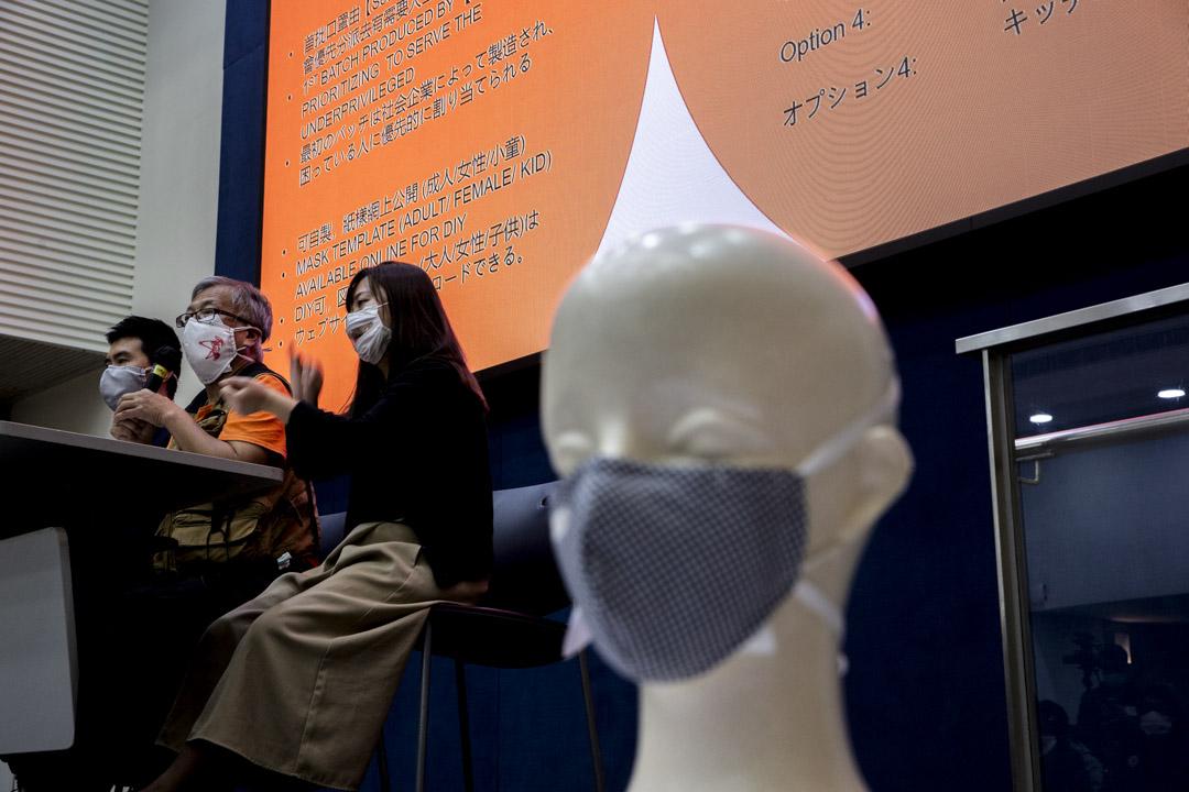 K. Kwong舉行記者會,公佈研發出可循環再用、香港製造的口罩HK MASK。