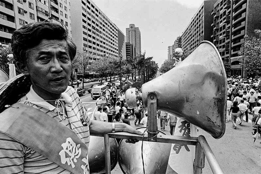 520農民運動事件擔任遊行總指揮的林國華。