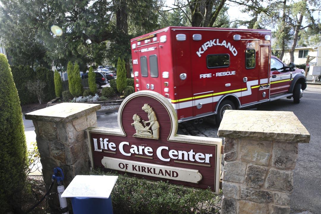 2020年3月7日,華盛頓柯克蘭的生命護理中心。