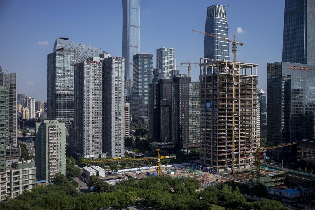 2018年8月23日,北京朝陽區一個建築工地。