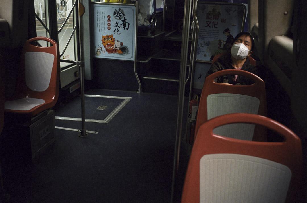 2020年4月17日,廣州190公交車上。