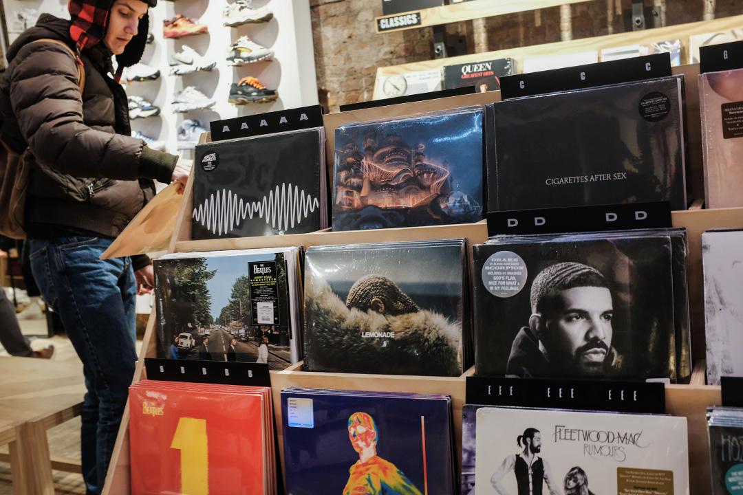 2019年3月05日,紐約的一家黑膠唱片店。