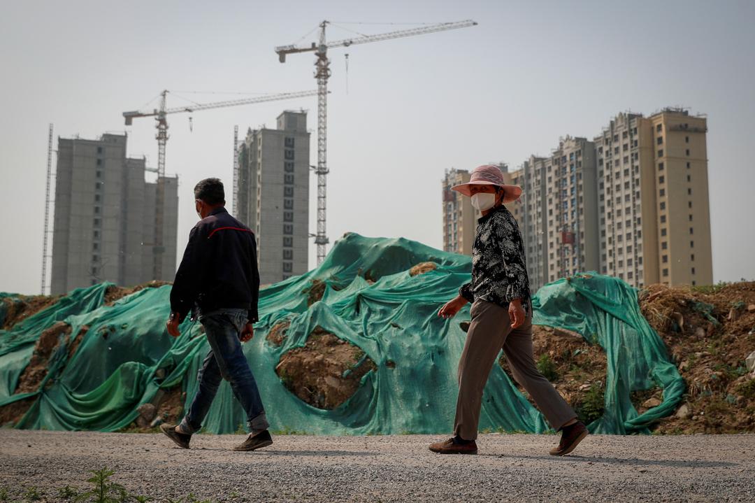 2020年4月30日,位於北京的一個建築工地。 攝:Thomas Peter/ Reuters/ 達志影像