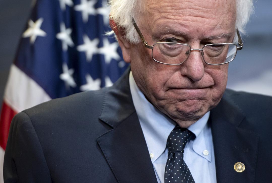 2019年4月4日,桑德斯在美國眾議院舉行投票後發表講話。