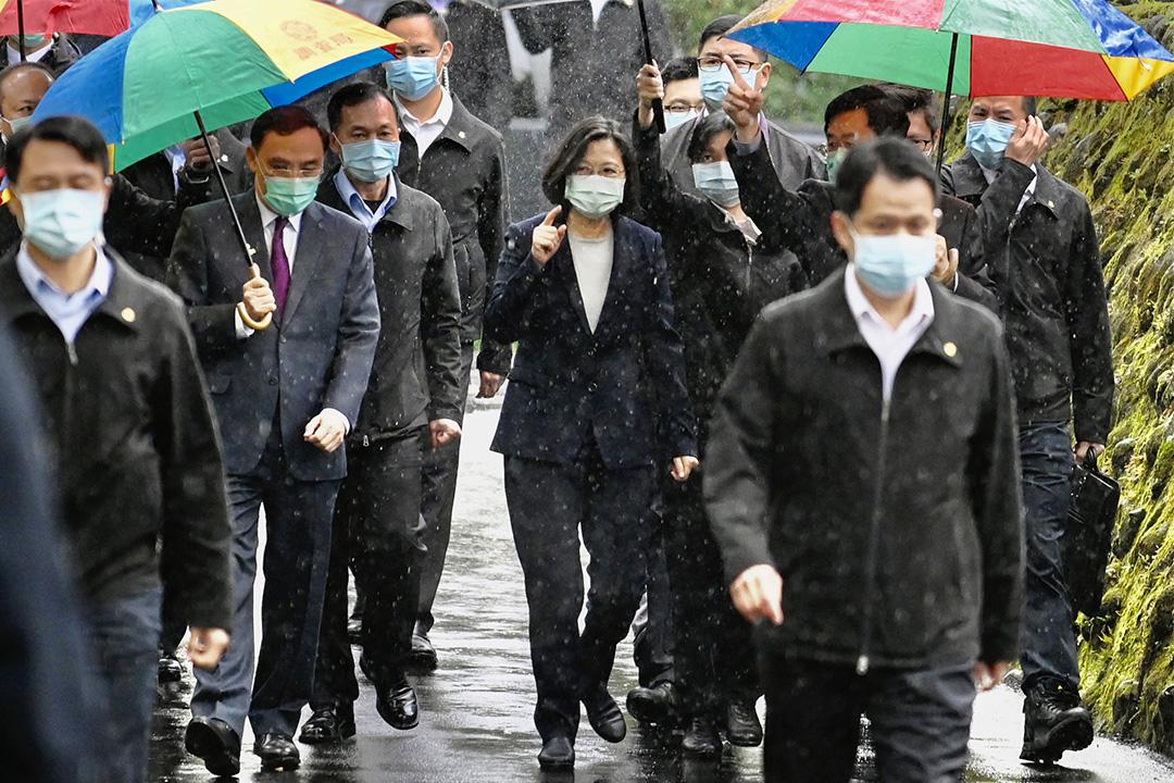 2020年4月24日,台灣總統蔡英文在新北市網絡安全調查辦公室開幕儀式上。 攝:Sam Yeh/AFP via Getty Images