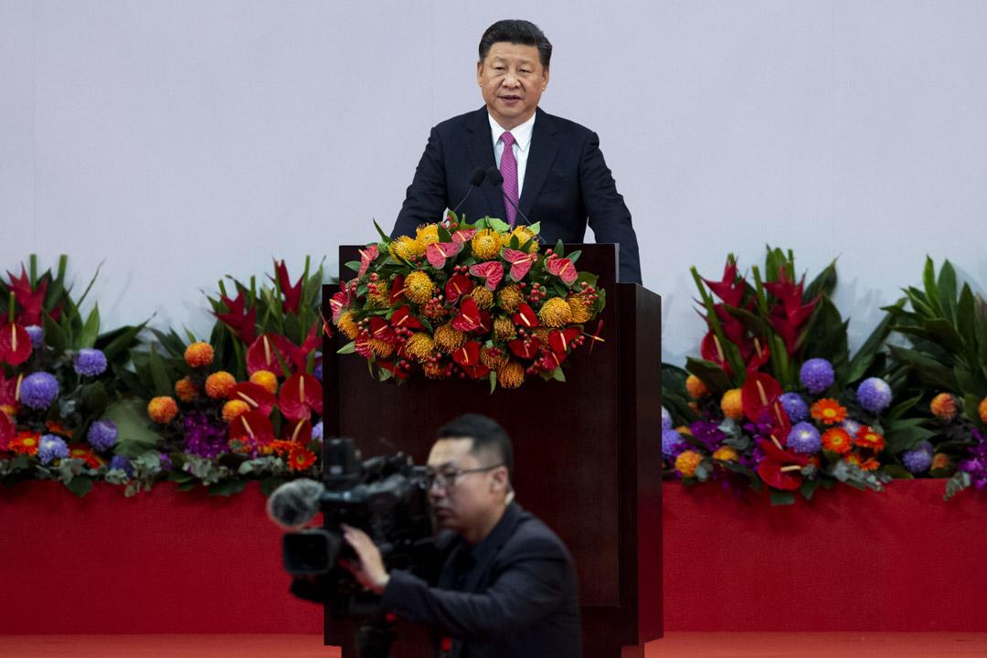 2017年7月1日,國家主席習近平在慶祝香港回歸20周年大會上發言。