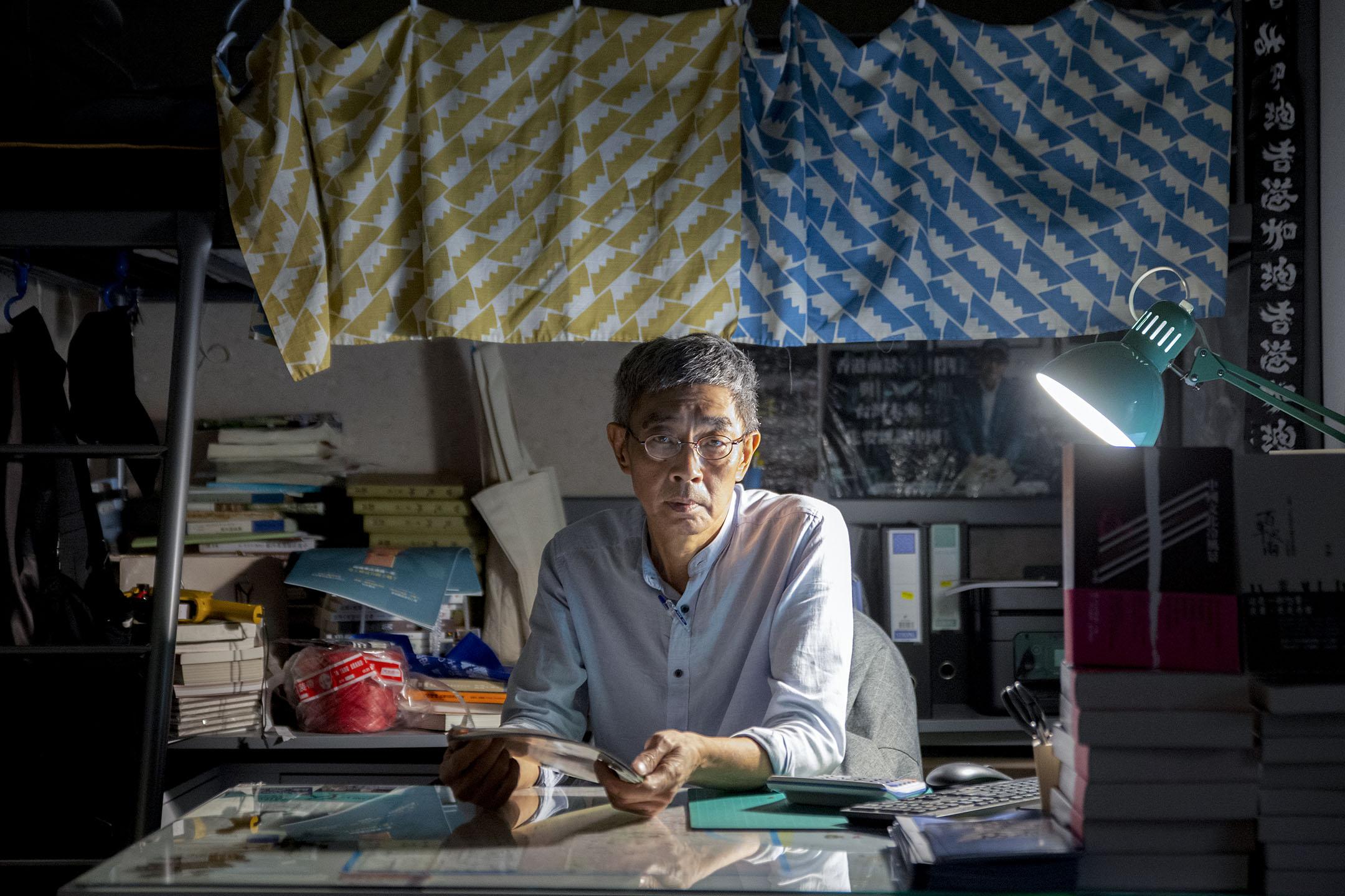 2020年5月6日,林榮基在他的台北銅鑼灣書店內。