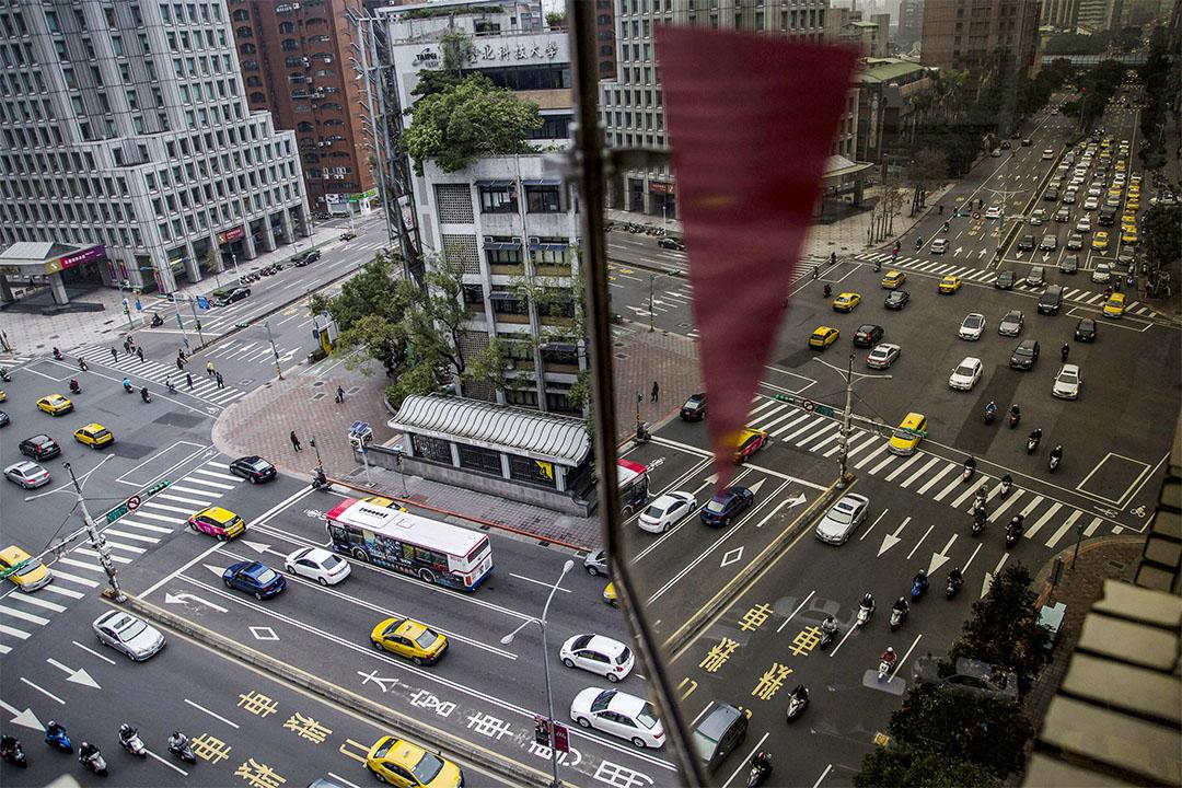 2016年1月14日,台北內一個馬路交叉點。