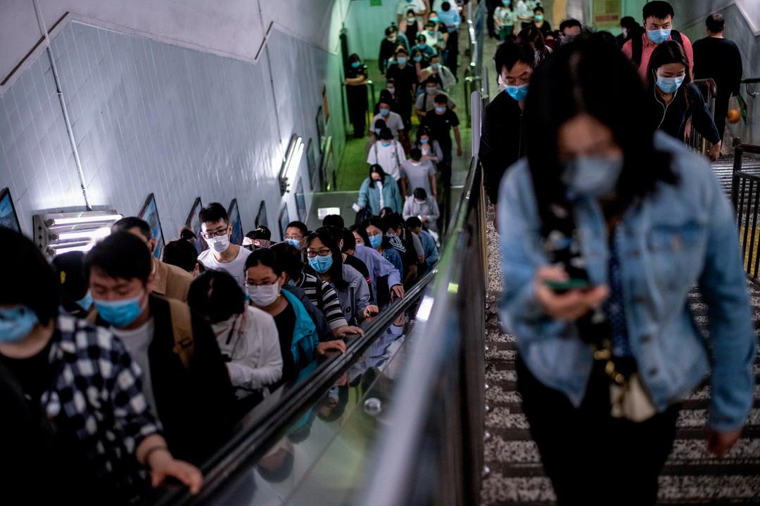 2020年5月13日,北京鐵路站的人潮。