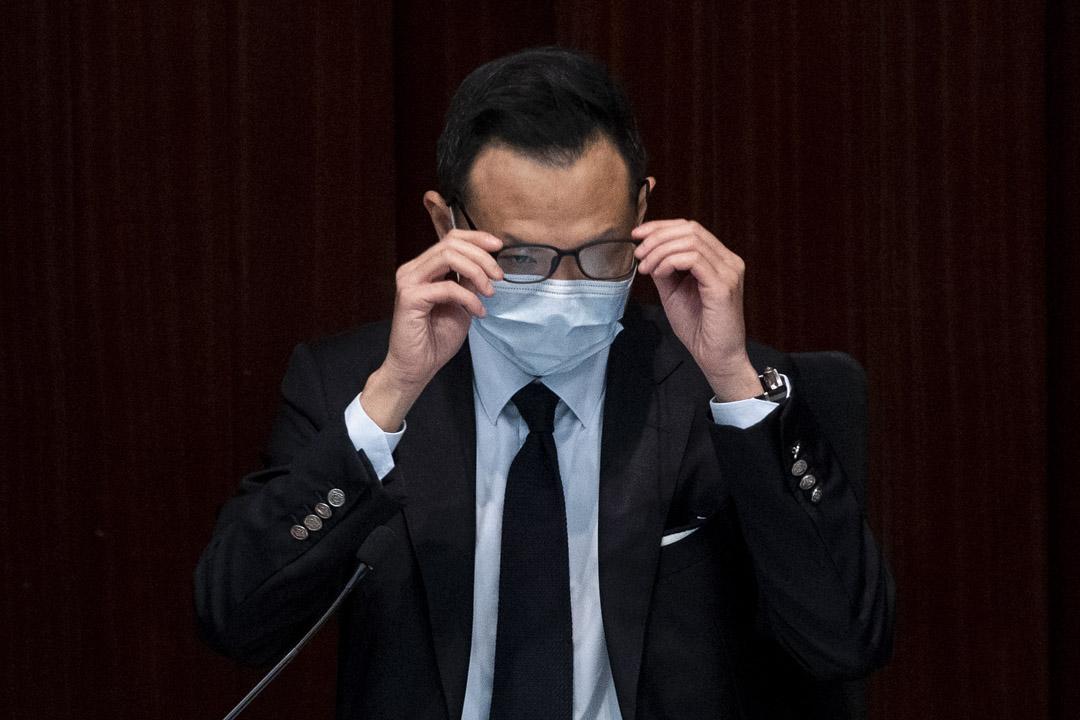 2020年4月24日,立法會公民黨議員郭榮鏗主持內務委員會會議。
