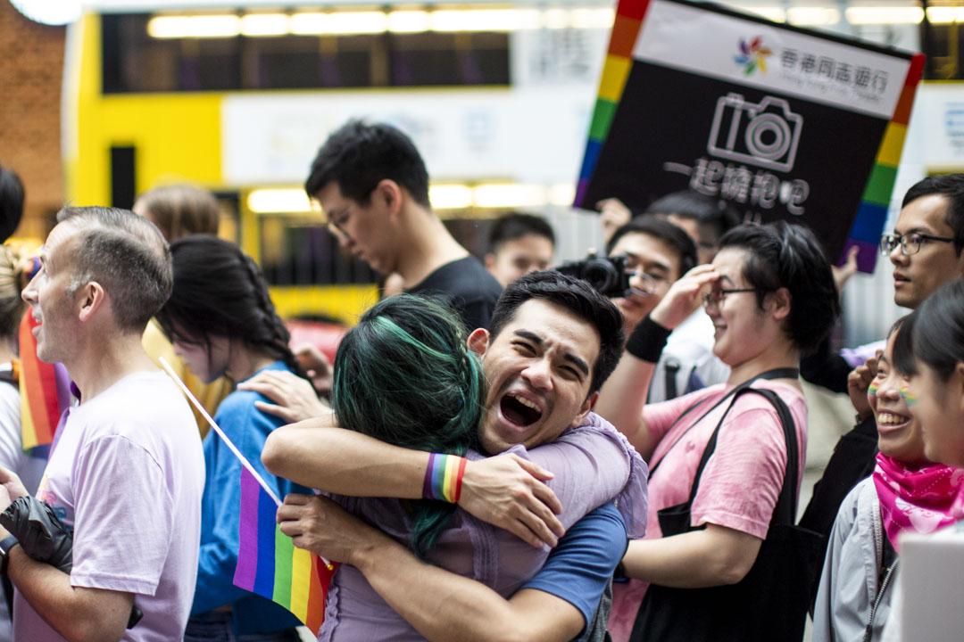 2018年11月17日,香港同志大遊行吸引一萬二千人參與,創下歷年新高。 攝:林振東/端傳媒