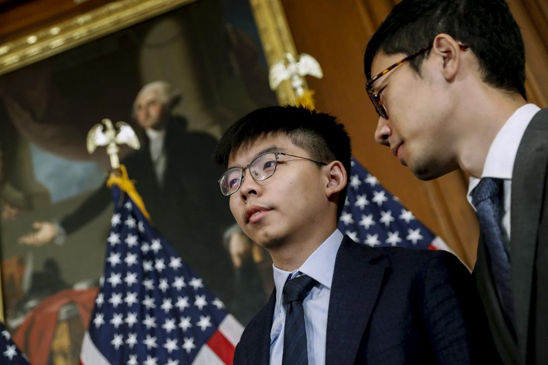2019年9月18日,黃之鋒、羅冠聰、何韻詩及美國國會眾議長佩洛西等人召開記者會,宣布國會即將審議《香港人權與民主法案》。