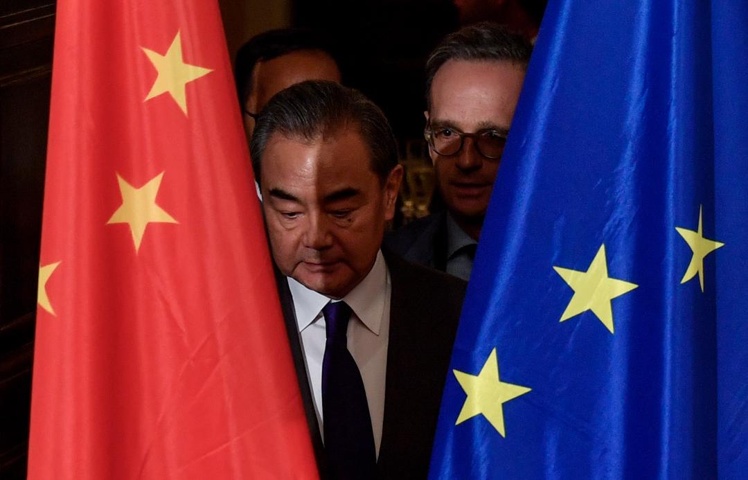 2020年2月13日,中國外交部部長王毅於柏林與德國外長對話。 攝:John Macdougall / AFP