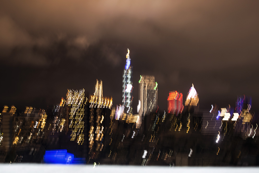台北市的夜景。