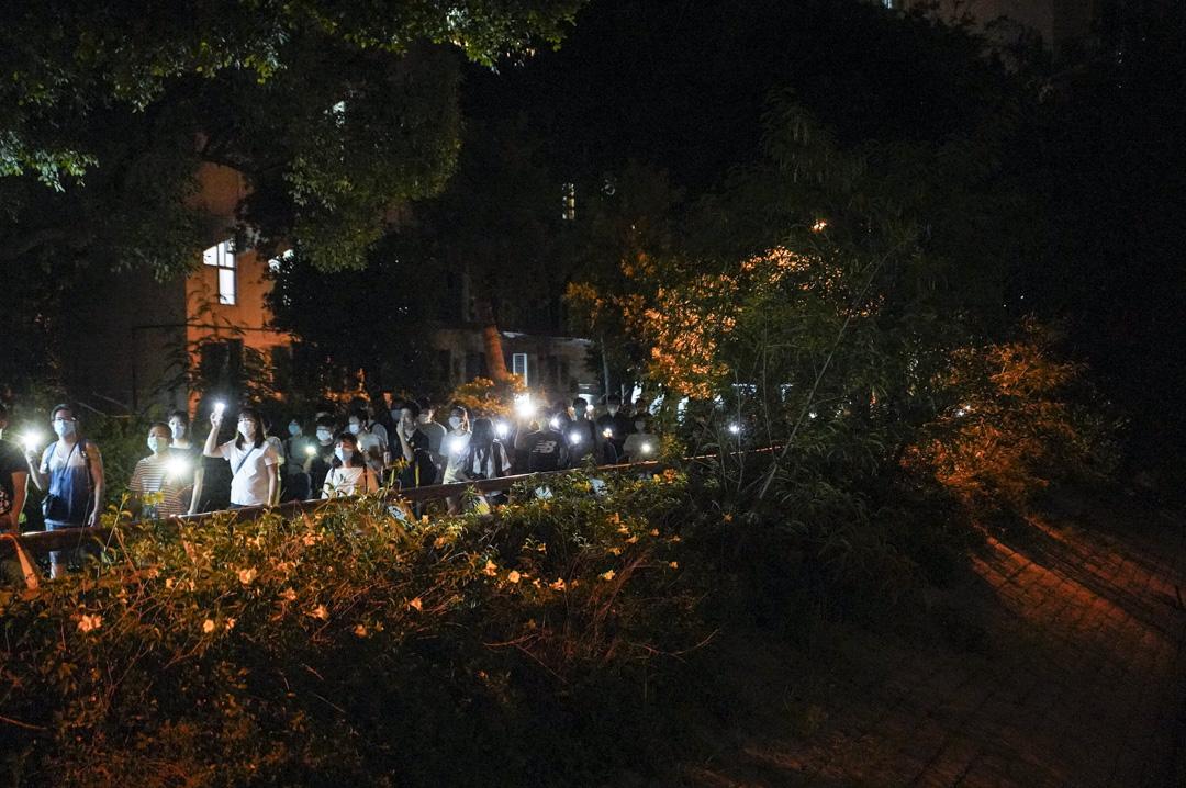2020年6月4日,沙田區有人發起六四悼念活動。