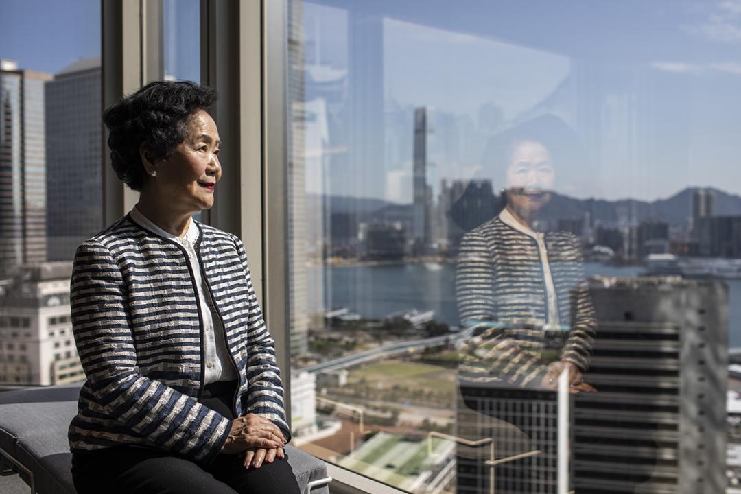 2019年6月14日,陳方安生接受彭博社專訪。 攝:Justin Chin / Bloomberg via Getty Images