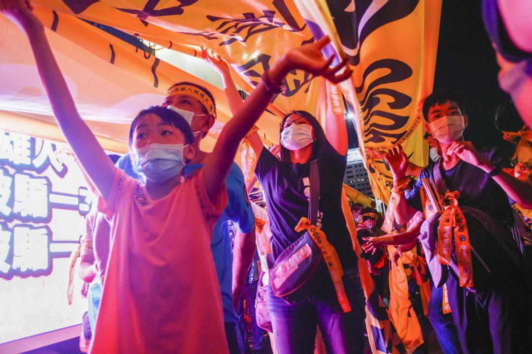 2020年6月5日,高雄市民上街參加罷韓遊行集會。