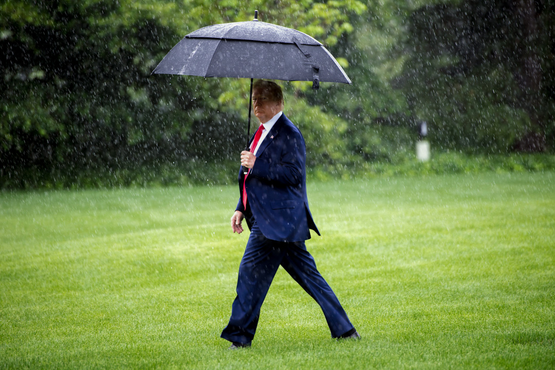 2020年6月11日,特朗普從白宮出發到德州與新澤西州。