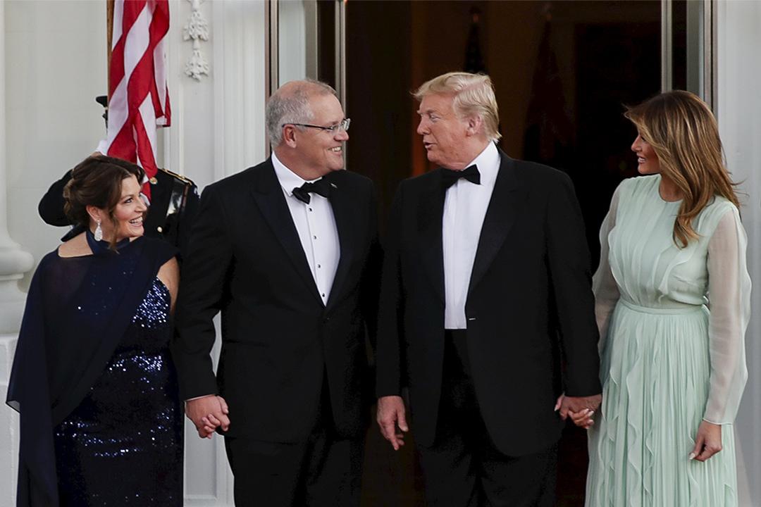 2019年9月20日美國,美國總統特朗普和澳洲總理莫里遜在白宮舉行國宴。