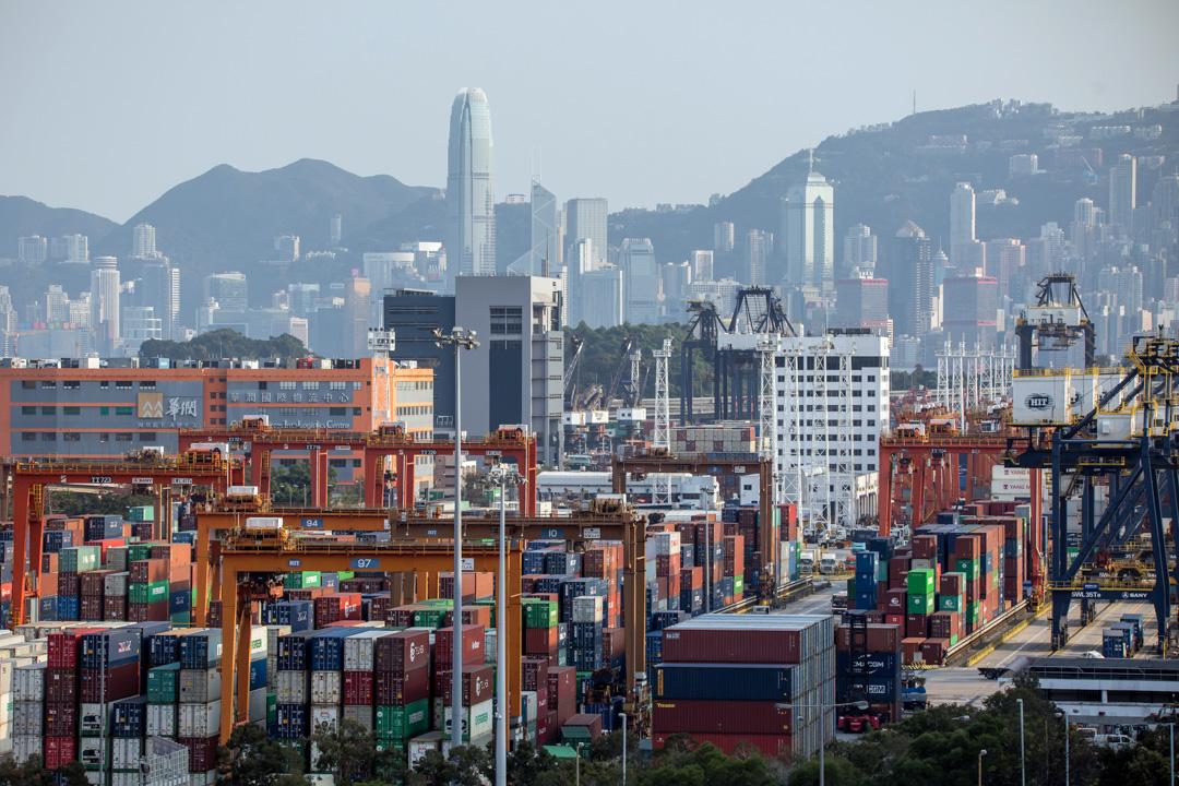 2020年2月20日,香港葵青貨櫃碼頭。