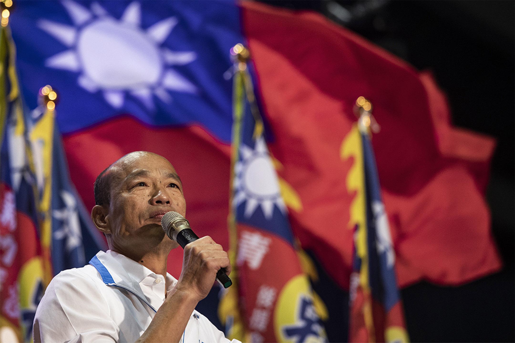 2019年12月15日,韓國瑜到雲林的造勢活動上演講。