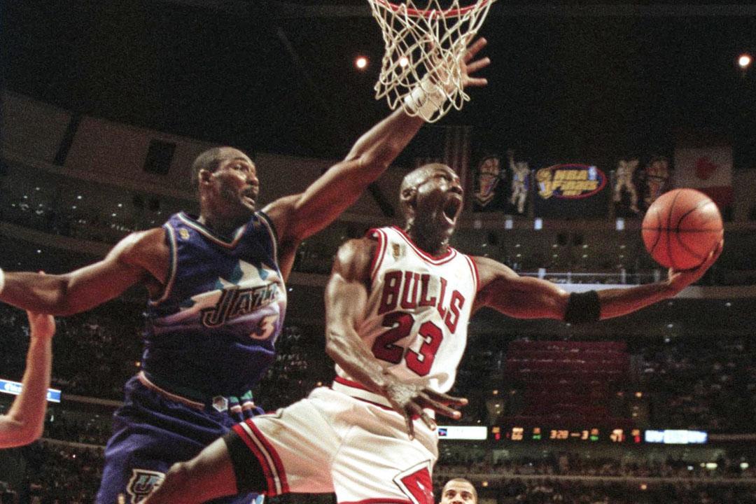 1997年6月4日,NBA總決賽,Michael Jordan帶領芝加哥公牛迎戰猶他爵士。