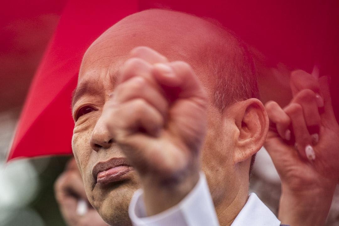 2020年1月7日,韓國瑜在桃園舉行總統選舉的造勢活動。 攝:林振東/端傳媒