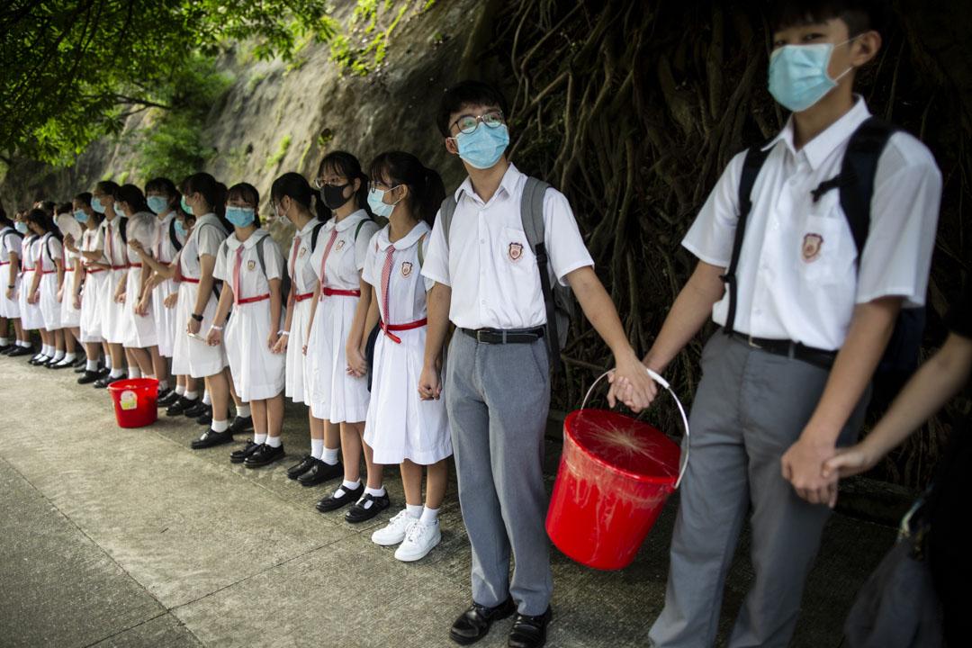 2019年9月9日,全港中學生發起人鏈活動,於早上上課之前,在學校門口手拖手連成延綿人鏈,以和平方式表達訴求。