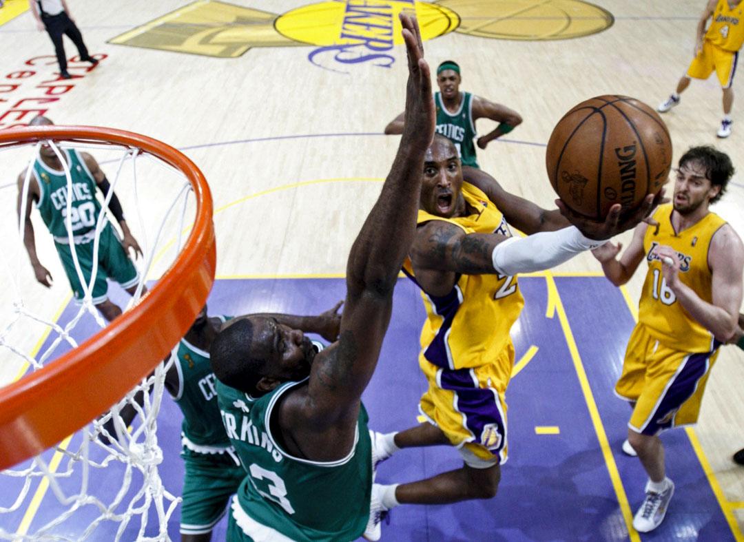 2008年6月10日,Kobe Bryant帶領洛杉磯湖人在NBA總決賽對決波士頓塞爾特人。