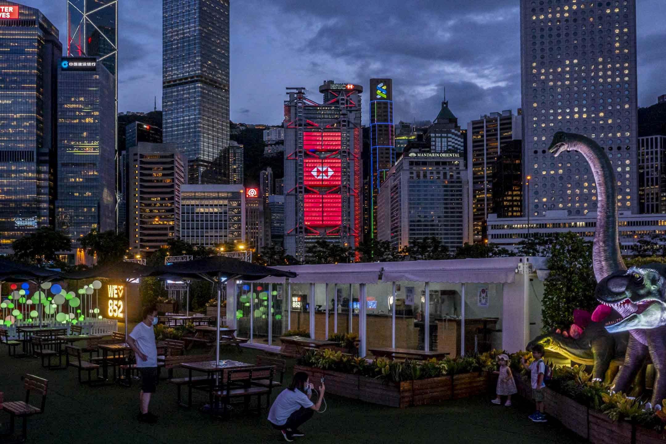 2020年6月16日,香港匯豐銀行總部。 攝:林振東/端傳媒