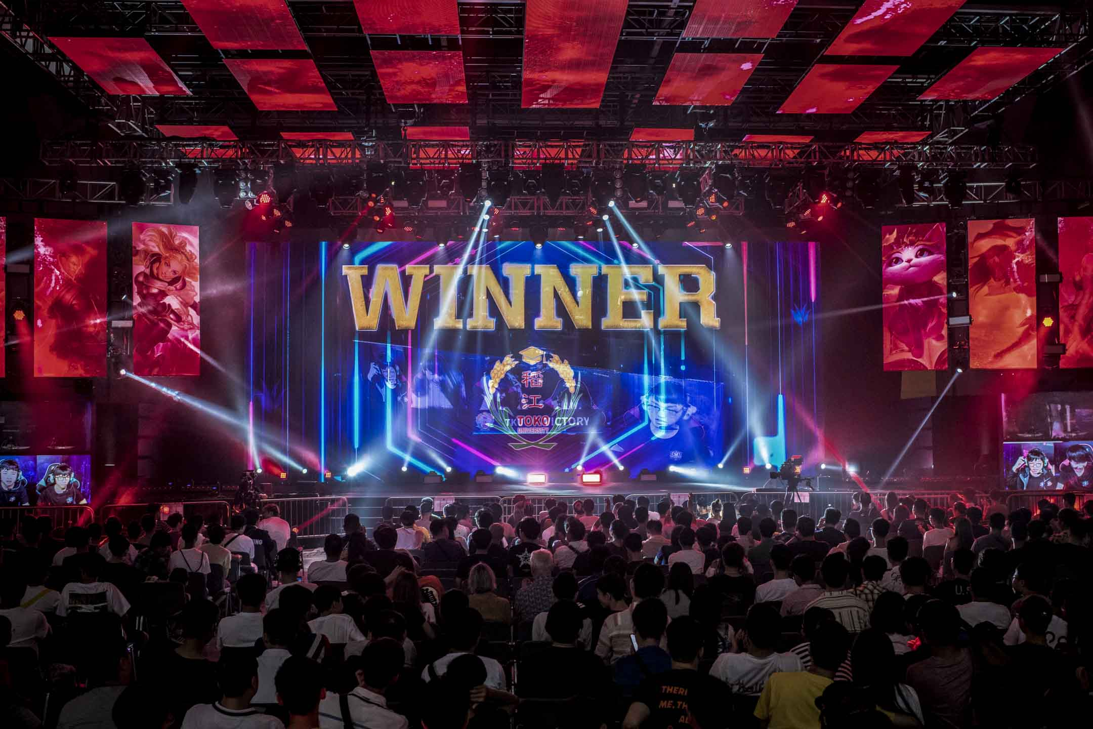 2019年7月27日,2019年香港電競音樂節上,「英雄聯盟國際大學杯」首次在香港上演。 攝: Ivan Abreu/Getty Images for Hong Kong Tourism Board