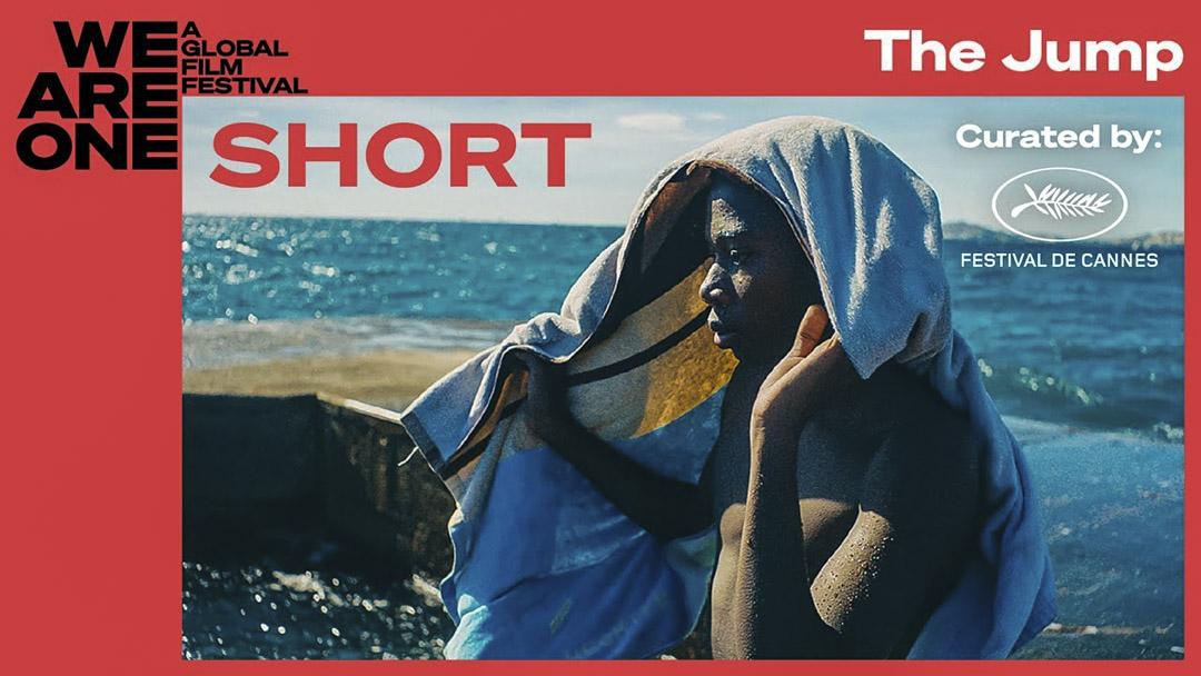 戛納短片Le Grand Saut的海報上是一個黑人男孩的側影。 網上圖片