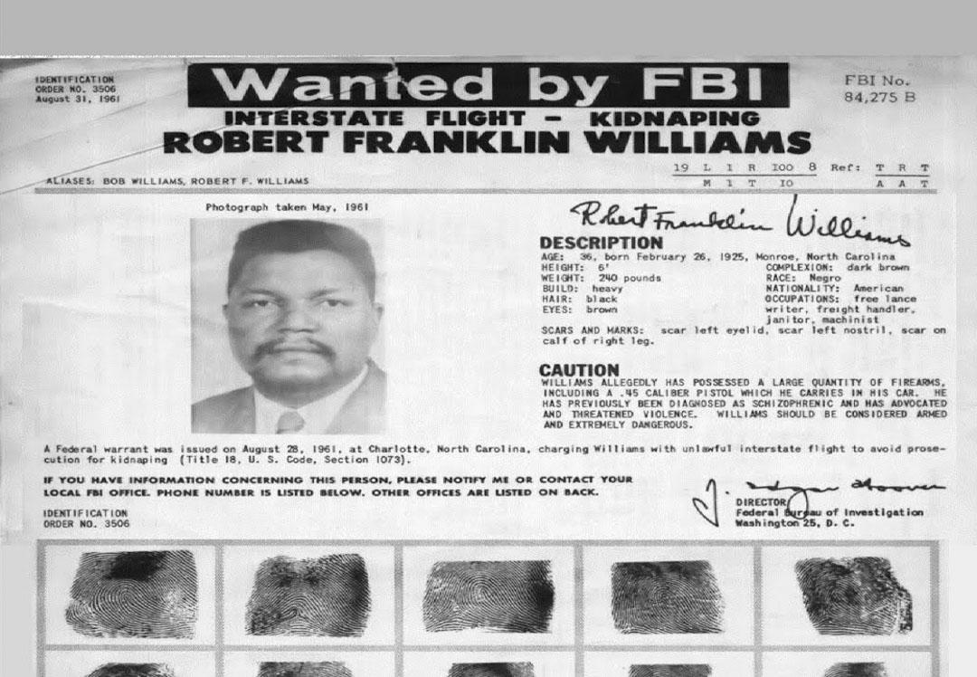 武裝自由鬥士羅伯特·威廉姆斯(Robert Williams)。
