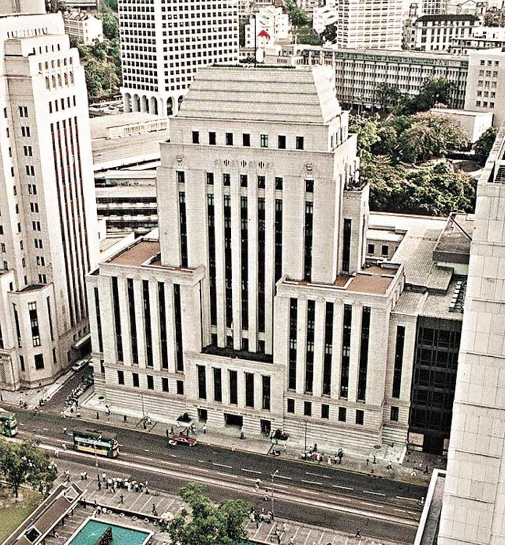 落成於1936年的香港滙豐總行大廈。