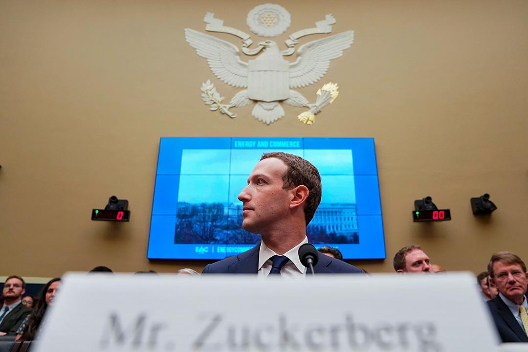 2018年4月11日華盛頓國會山,馬克·扎克伯格((Mark Zuckerberg)在眾議院能源和商務聽證會上作證。