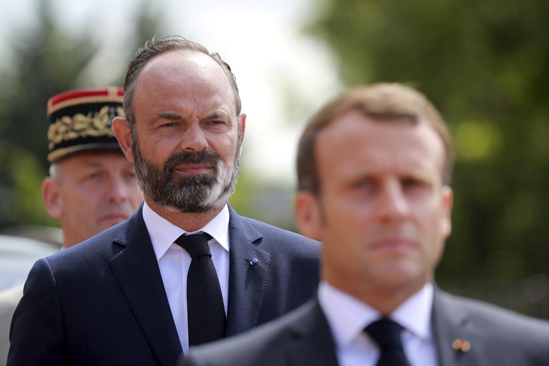 2020年6月18日,法國總統馬克龍及總理菲利浦出席傳統年度紀念活動,向德佔時期抵抗納粹、甚至因此犧牲的法國人致敬。 攝:Ludovic Marin / Pool via Reuters